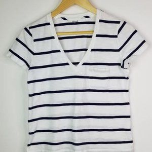 Madewell Striped Short Sleeve Top